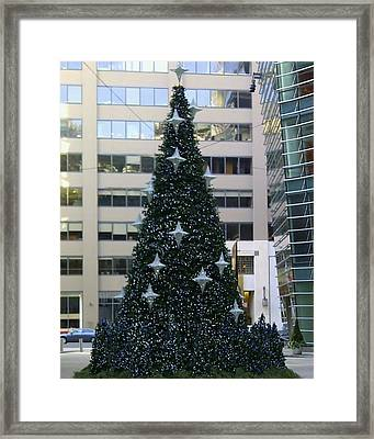 Urban Christmas Tree Framed Print