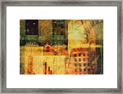 Urban Collage Framed Print