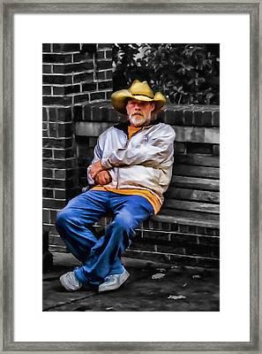 Urban Cowboy Framed Print by John Haldane