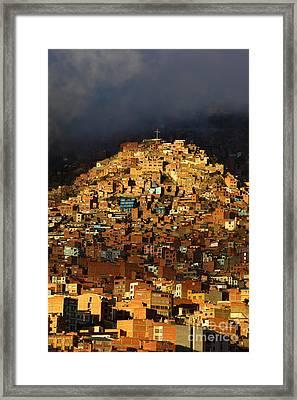 Urban Cross 1 Framed Print by James Brunker