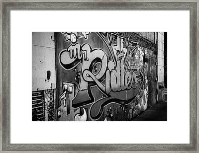 Urban Decay In Black And White Framed Print by John Hoey