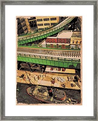 Urban Dock Framed Print