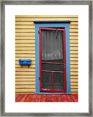 Urban Doorway Framed Print