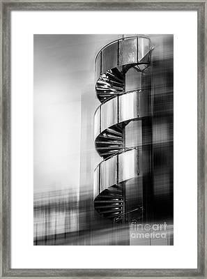 Urban Drill - C - Bw Framed Print by Hannes Cmarits