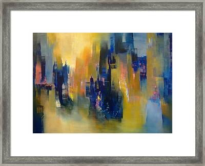 Urban Echoes Framed Print by Alicia Valdivia
