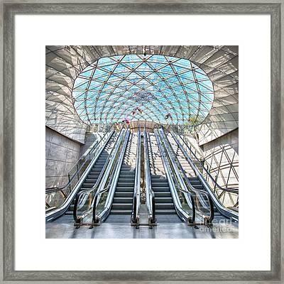 Urban Escalators Framed Print by Antony McAulay
