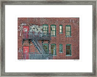 Framed Print featuring the photograph Urban Existence by Richard Bean