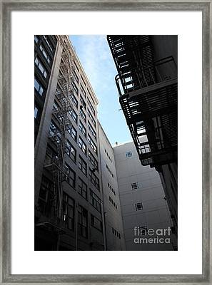 Urban Fabric - Fire Escape Stairs - 5d20541 Framed Print