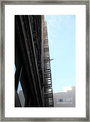 Urban Fabric - Fire Escape Stairs - 5d20542 Framed Print