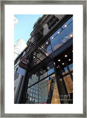 Urban Fabric - Fire Escape Stairs - 5d20589 Framed Print