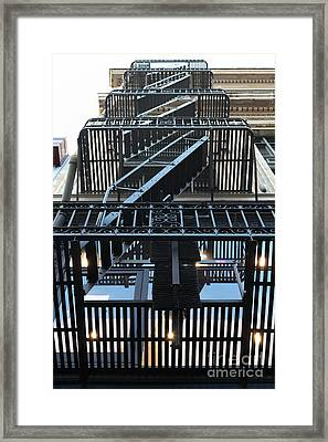 Urban Fabric - Fire Escape Stairs - 5d20592 Framed Print