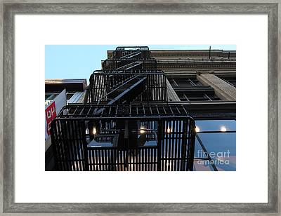 Urban Fabric - Fire Escape Stairs - 5d20593 Framed Print