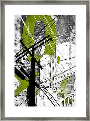 Urban Grunge Green Framed Print by Melissa Smith