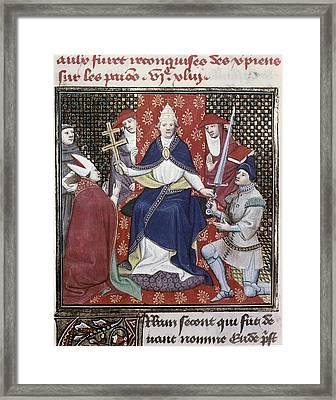 Urban II C. 1035 - 1099. Pope Framed Print by Everett