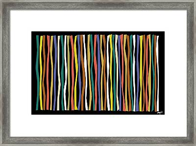 Urban Black Color Sticks Framed Print