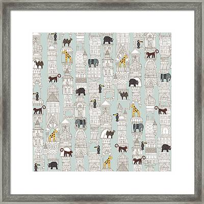 Urban Jungle Silver Framed Print by Sharon Turner