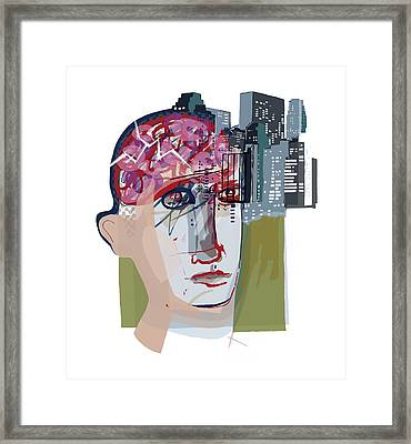 Urban Mental Health Framed Print by Paul Brown