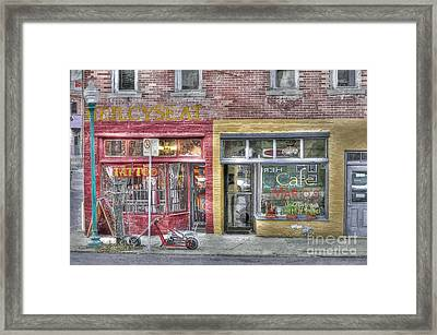 Urban Mercyseat Oil Painting Framed Print by Liane Wright