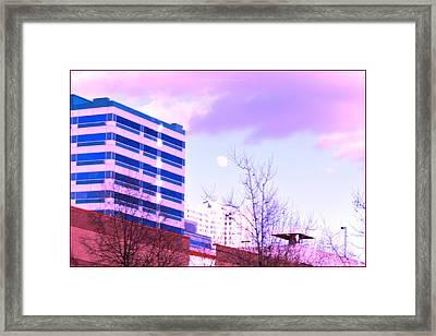 Urban Moon Rise Framed Print by Sonali Gangane