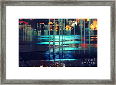 Urban Night Life Framed Print