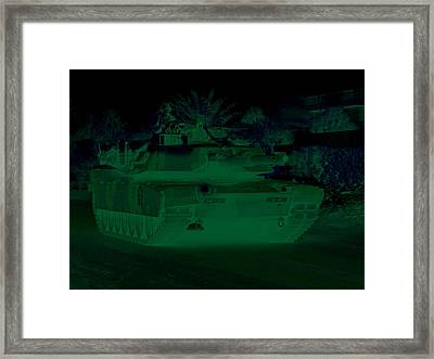 Urban Night Patrol M1 Abrams Tank Framed Print
