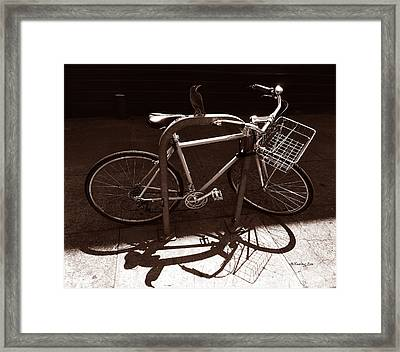 Urban Perch Framed Print by Xueling Zou