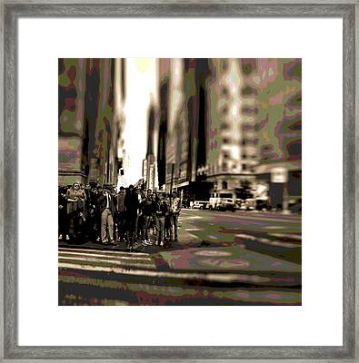 Urban Poster Framed Print by Dan Sproul