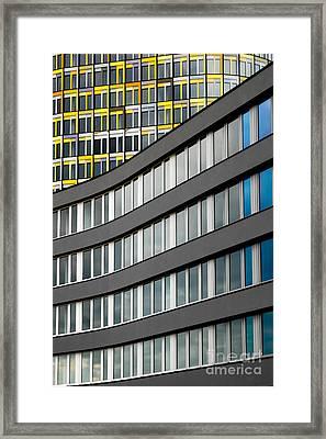 Urban Rectangles Framed Print by Hannes Cmarits