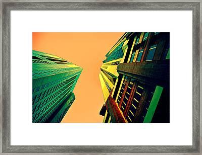 Urban Sky Framed Print by Andrei SKY