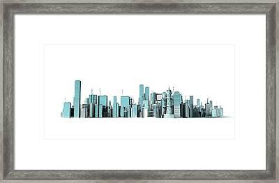 Urban Skyline Framed Print by Sebastian Kaulitzki