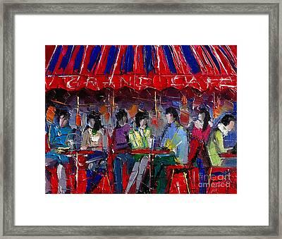 Urban Story - Grand Cafe Framed Print by Mona Edulesco