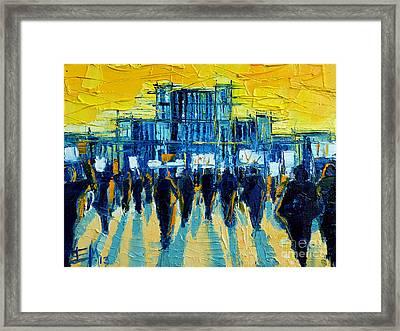 Urban Story - The Romanian Revolution Framed Print