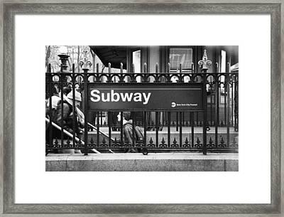 Urban Subway Framed Print by Emmanouil Klimis