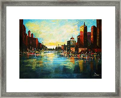 Urban Sunset Framed Print by Al Brown