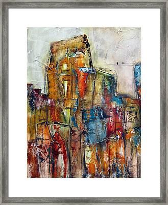 Urban Town Framed Print by Katie Black