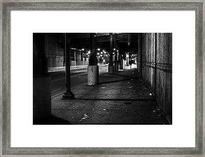 Urban Underground Framed Print
