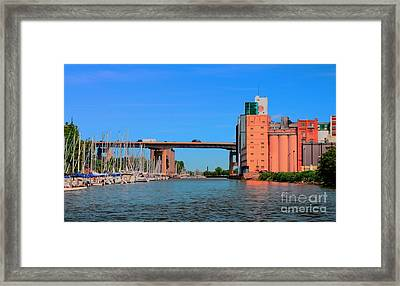 Urban View Framed Print by Kathleen Struckle