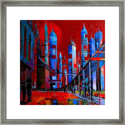 Urban Vision - City Of The Future Framed Print by Mona Edulesco