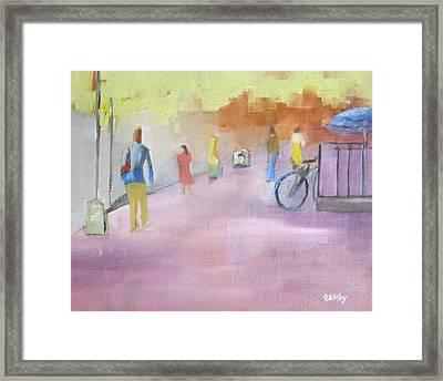 Urban Walk Framed Print