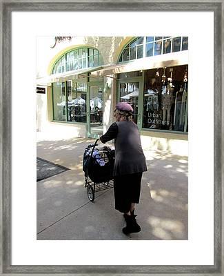 Urban Walker Framed Print by Rosie Brown