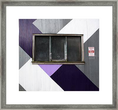 Urban Window- Photography Framed Print by Linda Woods