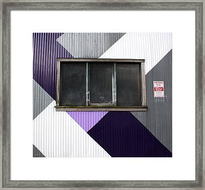Urban Window- Photography Framed Print