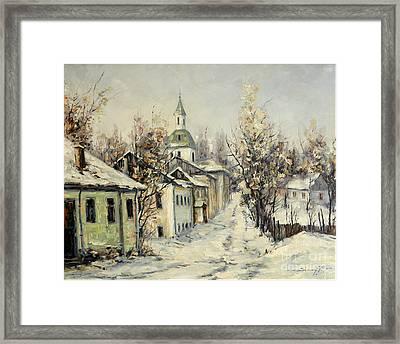 Urban Winter Framed Print by Petrica Sincu