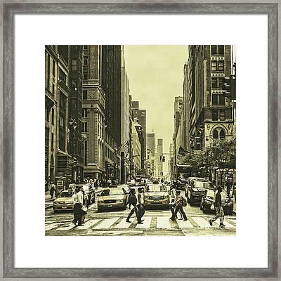 Urbanites Framed Print by Andrew Paranavitana