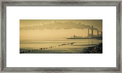 Urbex Shore Framed Print
