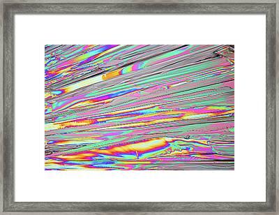 Urea Crystal Plates Framed Print by Karl Gaff