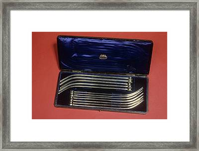 Urethral Probes Framed Print by Science Photo Library