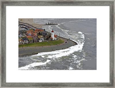 Urk Lighthouse, Flevoland Framed Print