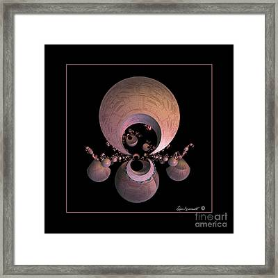 Urns Framed Print by Leona Arsenault