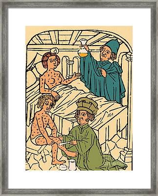 Uroscopy Patients With Syphilis 1497 Framed Print by Science Source